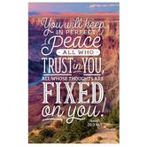 Salt & Light, Isaiah 26:3 Perfect Peace Church Bulletins, 8 1/2 x 11 inches Flat, 100 Count