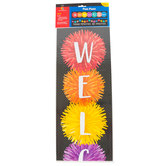 Creative Teaching Press, Pom-Poms Welcome Banner, 39 x 8 inches, 2-Sided