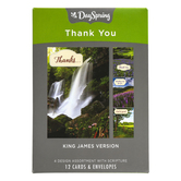 DaySpring, Landscape Photo Thank You Boxed Cards, 12 Cards with Envelopes