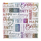 Brother Sister Design Studio, Rainbow Foil Birthday Gift Card Box, 4 inches
