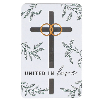 Dicksons, United In Love Marriage Takes Three Pocket Card, 2 1/2 x 3 3/4 inches