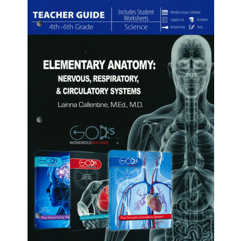 Master Books, Elementary Anatomy: Nervous, Respiratory, Circulatory Systems Teacher Guide, Grades 3-6
