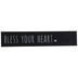 Mardel, Bless Your Heart Wood Block, Black and White, 11.75 x 2.31 x 1.38 Inches