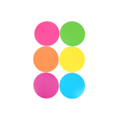 Renewing Minds, Neon Dots Mini Cutouts, Assorted Colors, 3 Inches, 36 Pieces