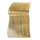 Brother Sister Design Studio, Plastic Forks, Gold, 7 1/2 x 1 inches, Set of 20