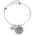 Bella Grace, Daughter Of The King, Wire Charm Bracelet, Iron, Silver-Tone, 2 1/2 inch diameter