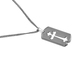 H.J. Sherman, Tag with Cutout Cross Pendant Necklace, Sterling Silver, 18 inches