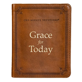 Grace for Today: 366 One-Minute Devotions, Imitation Leather, Brown
