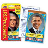 TREND enterprises Inc., U.S. Presidents Pocket Flash Cards, 3 x 5.25 Inches, 56 Pieces