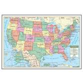 Kappa Map Group, US Political Rolled Map, 40 x 28 Inches, Multi-Colors, 1 Piece