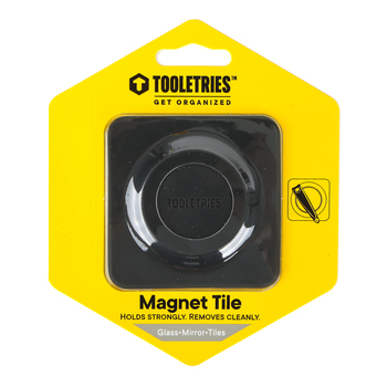 Tooletries, Archer Magnet Mount, Charcoal, 2 3/4 x 2 3/4 inches