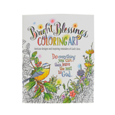 Product Concept Manufacturing, Bright Blessings Coloring Book for Adults, 9 x 11 inches, 24 Designs