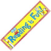 Eureka, Cat in the Hat Reading is Fun Classroom Banner, Multi-Colored, 45 x 12 Inches, 1 Each