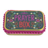 Natural Life, Prayer Box, Tin, Slate Blue, 3 3/4 x 2 1/4 x 1 inches