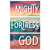 Salt & Light, Psalm 18:2 Mighty Fortress Church Bulletins, 8 1/2 x 11 inches Flat, 100 Count