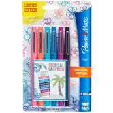 Paper Mate, Flair Felt Tip Markers, Medium Point, Assorted Tropical Colors, Pack of 6