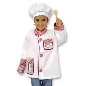 Melissa & Doug, Chef Costume Set, Ages 3 to 6  Years Old, 6 Pieces