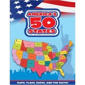 Flying Frog Publishing, America's 50 States Book, Board Book, 52 Pages, Grades K-6