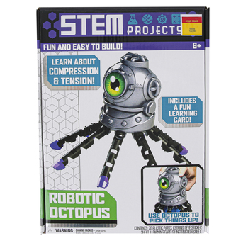 Tara Toy, Robotic Octopus Kit, 24 Pieces, Ages 6 Years and Older