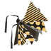 Glimmer of Gold Collection, Double-Sided Pennant Banner, 8 Designs, 16 Flags, 12 Feet