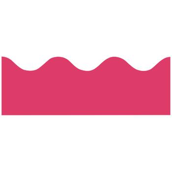 Renewing Minds, Scalloped Border Trim, 38 Feet, Deep Pink