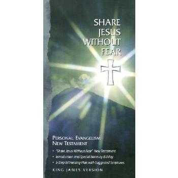 KJV Share Jesus Without Fear New Testament, Bonded Leather, Black