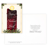 Renewing Faith, Luke 2:11 For Unto You Is Born Boxed Christmas Cards, Cream/Red, 4 1/2 x 6 1/2 inches, 18 cards