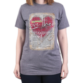 His Word Clothing Company, Luke 23:34 Love Them Anyway, Women's Short Sleeve T-shirt, Heather Gray, S-2XL