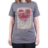 His Word Clothing Company, Luke 23:34 Love Them Anyway, Women's Short Sleeve T-shirt, Heather Gray, Medium