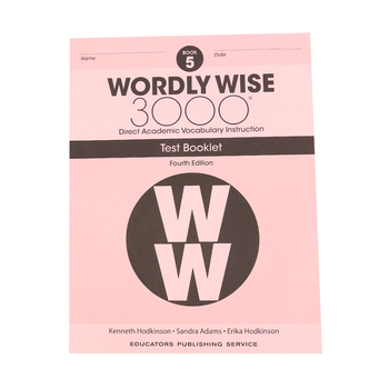 Wordly Wise 3000 4th Edition Test Booklet 5, Paperback, Grade 5