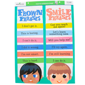 Renewing Minds, Smile and Frown Phrases Motivational Chart, 17 x 22 Inches, 1 Each