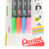 Pentel, Twin Checker Dual-Tip Highlighters, 1 Each of 4 Colors