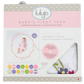 Mary Meyer, Lulujo Isn't She Lovely Baby's First Year Blanket & Card Set, 40 x 40 inches, 14 Cards