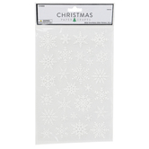 Christmas Paper Crafts, Snowflakes Glitter Stickers, White, 30 Pieces