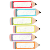 Chalk Talk Collection, Pencil Large Cutouts, Assorted Colors, 6 Inches, 36 Pieces