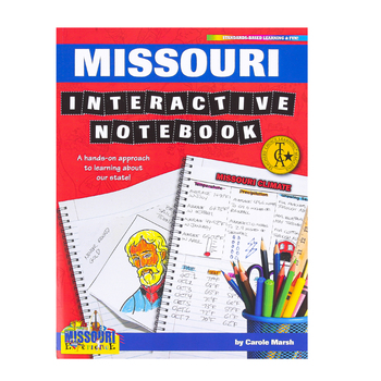 Gallopade, Missouri Interactive Notebook: A Hands-On Approach, Paperback, 68 Pages, Grades 3-5