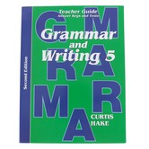 Saxon Grammar and Writing Teacher Guide, Grade 5, Curtis Hake, 234 Pages