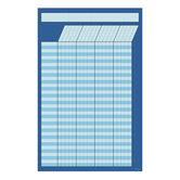 Renewing Minds, Small Customizable Incentive Chart, 14 x 22 Inches, Blue, 1 Piece