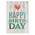 ThreeRoses, Rustic Plank Boxed Birthday Cards, 12 Cards