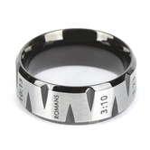 Spirit & Truth, Roman Road, Men's Ring, Stainless Steel, Sizes 8-12