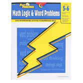 Creative Teaching Press, Power Practice Math Logic and Word Problems Workbook, Reproducible, Grades 5-6