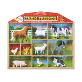 Melissa & Doug, Farm Friends Play Set, Ages 3 to 7 Years Old, 10 Animal Figures
