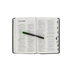 NIV Thinline Reference Bible, Bonded Leather, Black, Thumb Indexed