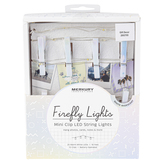 Merkury Innovations, Firefly LED Mini Clip String Lights, Battery Operated, White and Silver, 10 Feet
