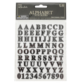 the Paper Studio, Embossed Alphabet Stickers, Black, 160 Stickers