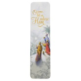 Renewing Faith, Psalm 95:6-7 Adore Him Bookmarks, Paper, White and Gray, 1 1/2 x 5 3/4 inches, Pack of 25