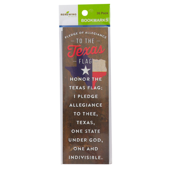Renewing Minds, Pledge of Allegiance to the Texas Flag Bookmarks, Pack of 36