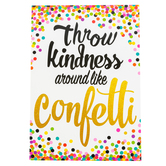 Teacher Created Resources, Throw Kindness Around Like Confetti Positive Poster, 13 x 19 Inches, 1 Piece