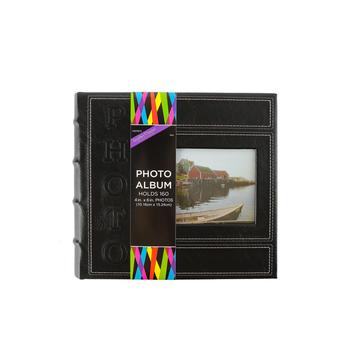 Brother Sister Design Studio, Stitched Photo Album, Black, 160 Photo Slots