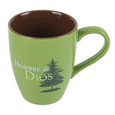 CTA, Inc., Colossians 2:7 Hombre De Dios Spanish Coffee Mug, Ceramic, Green, 10 ounces